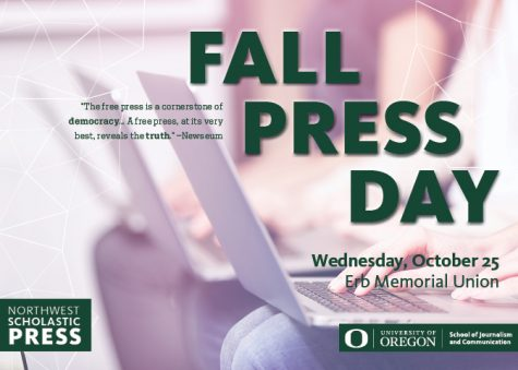 Join us in Eugene for Fall Press Day on October 25th!