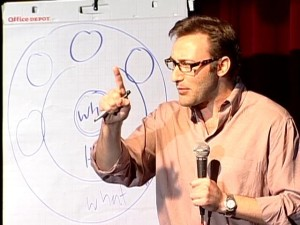 Simon Sinek at the 2009 TEDTALK in Puget Sound, WA.