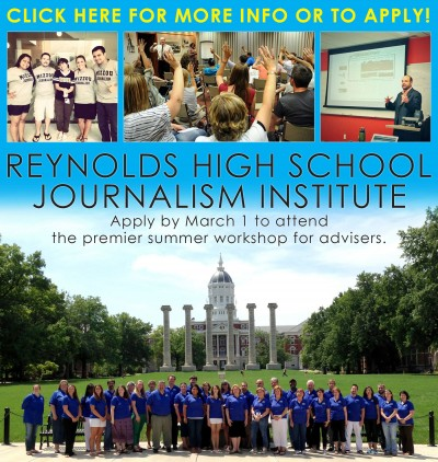 Apply online for Reynolds High School Journalism Institutes by March 1