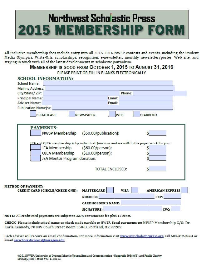Download all Membership, interactive forms here